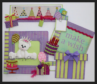 Baby Crying  Paperpiecing Premade Scrapbooking Paper Piecing CBL #32