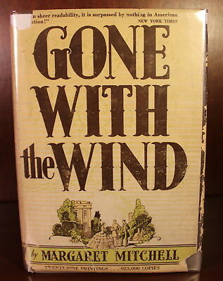 1936 1st Edition Early Printing December DJ Margaret Mitchell Gone With the Wind
