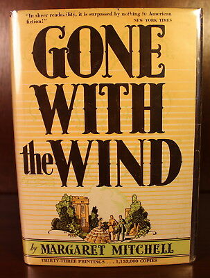 Margaret Mitchell 1936 Gone With the Wind 1st Edition Early Printing December DJ
