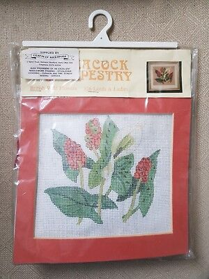 Peacock Tapestry British Wild Flowers Lords & Ladies Kit New Christmas Gift