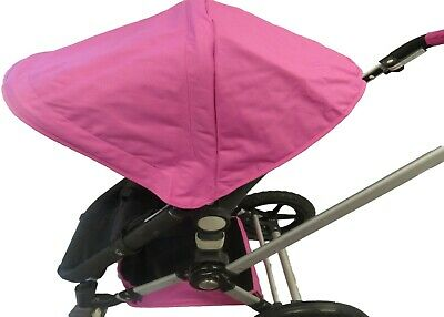 Pink Canopy Sun Shade Seat LIners Basket for Bugaboo Cameleon 123 Frog Strollers
