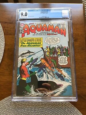 Aquaman 3 Cgc 9.0 off white to white pages !