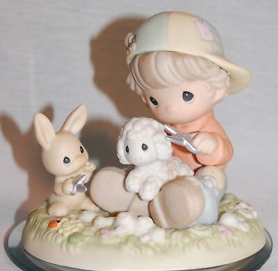 """Precious Moments 539910 """" Shear Happiness And Hare Cuts """" 1999 Star Mark ;"""