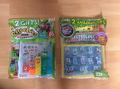 Collectors Issue Cbeebies Number Blocks Magazine With Number Blocks 1-5 & Alpha