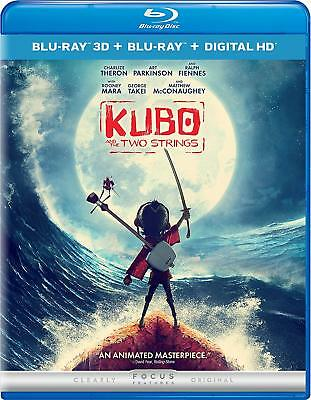 Kubo and the Two Strings (2016) 3D + 2D Blu-Ray BRAND NEW Free Ship