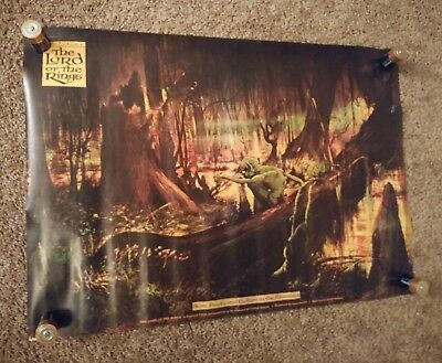 Vintage 1978 Ralph Bakshi Lord of the Rings Poster - Sam Frodo Gollum In Marshes