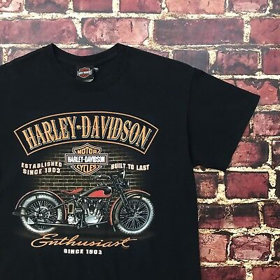 Harley Davidson Shirt Medium England Preston Strand Road Biker Motorcycle Tee