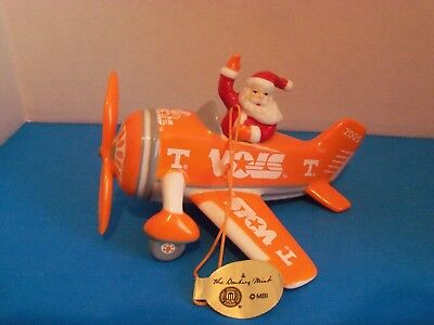 """The Danbury Mint-""""Victory Plane"""" With Santa Ornament """"2005"""" Tennessee Ornament"""