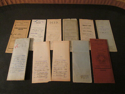 Antique Paper & Document Mixed Lot - Deed & Deed Agreements -