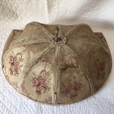 Superb Rarest BED CANOPY à la Polonaise Rose Basket Old Tapestry So Shabby chic