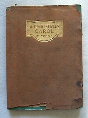 Antique Leather-Covered A Christmas Carol by Charles DIckens