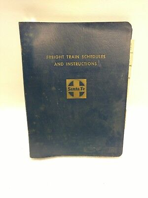 1968 Santa Fe Railroad Freight Train Schedule And Instructions Book