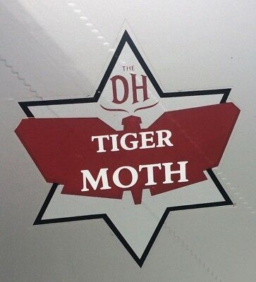 Tiger Moth Tail Transfers x2 De Havilland DH82A WWII Vintage Antique Airplane