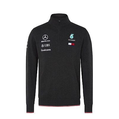 2018 Mercedes AMG F1 Team 1/2 Zip Knitted Jumper Sweater Top Hamilton OFFICIAL
