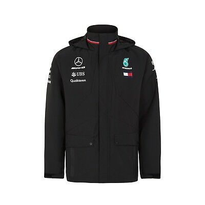 2018 Mercedes AMG Petronas F1 Team Rain Jacket Coat Hamilton MENS – New OFFICIAL