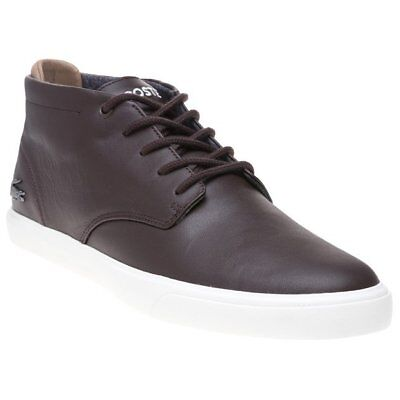 New MENS LACOSTE BROWN ESPERE CHUKKA LEATHER Sneakers BOOTS