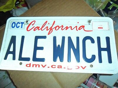 California License Plate Personal Arts State Embossed Vehicle Tag Auto Collector
