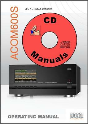 ACOM-600S HF+6m Linear Amplifier CD OWNER'S MANUAL + Schematic,  Acom600S AMP