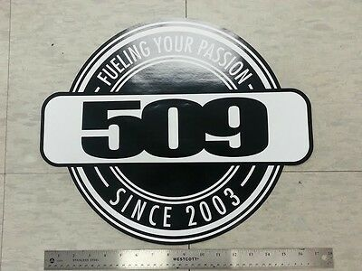 """509 SNOWMOBILE FUELING YOUR PASSION 18"""" STICKER DECAL - New"""