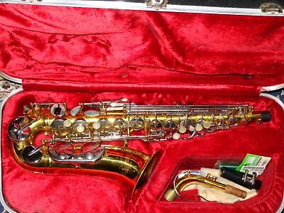 Armstrong 3006A Alto Saxophone With Hard Case No Reserve! Super Nice! Must See!