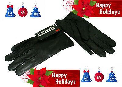 women's genuine soft lamb leather tinsulate lining gloves