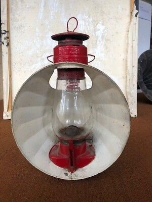 Antique Dietz 30 New York Red Inspectors Lantern - Original Paint