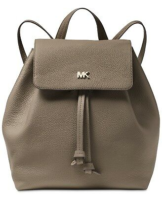 e04f4dffb0fc NWT Michael Kors Junie Medium Flap Backpack Mushroom Leather Dust Bag SEALED