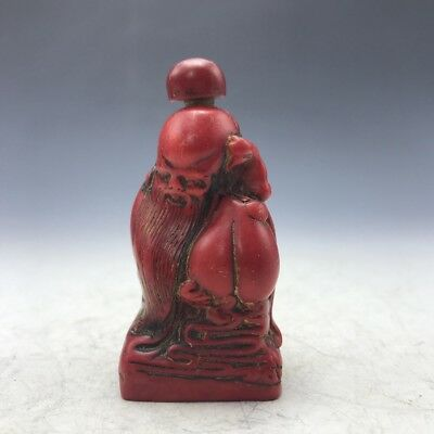 Ancient snuff bottles of Old man hand-carved a224