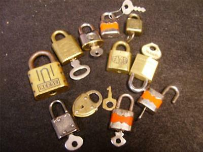 ANTIQUE Vintage Collection LOT of 11 LOCKS Master SUL Eagle REESE Corbin SQUIRE