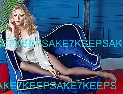 Actress Scarlett Johansson In Only A Shirt And Pantyhose Leggy Feet Photo A-Sjo