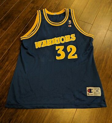 GOLDEN STATE WARRIORS Mens 48 Champion Jersey Vintage Joe Smith NBA ... 25cb9f08c