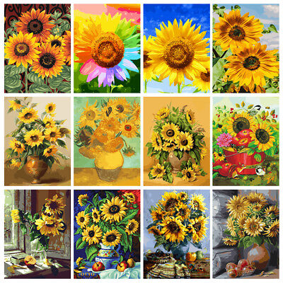 40*50cm Sunflowers DIY Paint By Number Kit Digital Oil Painting Home Wall Decor