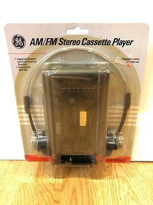 NEW Vintage GE 3-5493s Portable Walkman Cassette Tape Player AM/FM Radio