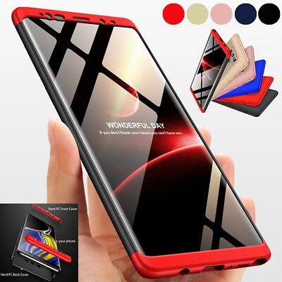 Samsung Galaxy S9 S8+ Note 9 8 360 Full Body Shockproof Hard Armor PC Case Cover