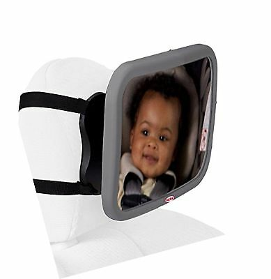 Nuby Back Seat Baby View Mirror, Gray Free Shipping