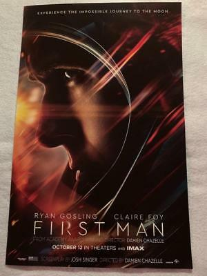"FIRST MAN - 11""x17"" Original Promo Movie Poster MINT Ryan Gosling Neil Armstrong"