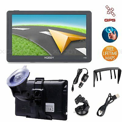 "XGODY 715F 7"" Portable GPS Systems SAT NAV Navigation Free Lifetime Map Updates"
