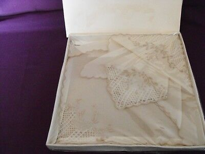 Five Vintage Handkerchiefs still boxed (2 boxes)