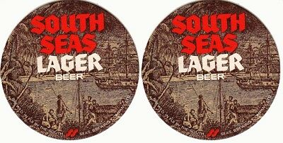 South Seas Lager Beer Round Australian issued Coaster / Beer Mat 02
