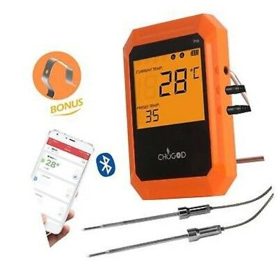 Bluetooth BBQ Meat Thermometer | Wireless Digital Cooking Tool | Oven Grilling