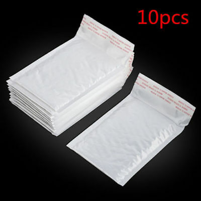 New Chic White Poly Bubble Mailers Padded Envelopes Self Seal Bag Shipping Bags