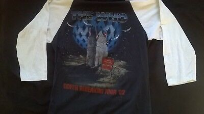 Original Vintage The Who  1982 North American Tour concert Raglan shirt