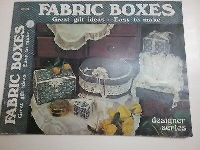Vintage Fabric Boxes Booklet. 1981.   17 pages.  Used.