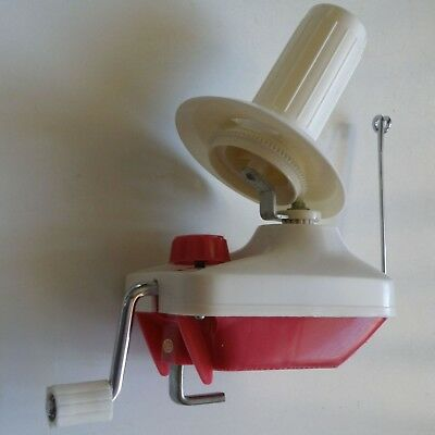 NICE 1970s VINTAGE TOYOTA WOOL WINDER WITH HAT SPOOL AND TABLE CLAMP, JAPAN-MADE