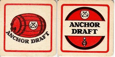 Anchor Draft Square Beer Coaster- Beer Mat