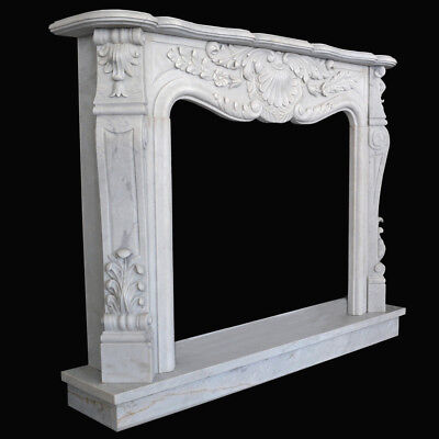 Frame Fireplace White Marble Carrara for Liberty