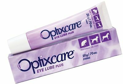 OptixCare Pet Eye Lube Plus + Hyaluron 20g for Dog Cat Horses 1 Pack
