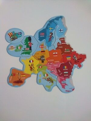 Carte Europe magnets Savane Brossard - complete 16 pieces.