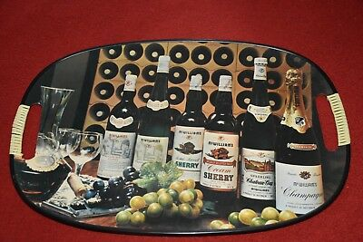 Vintage McWilliams Drinks Tray Circa Early 1970s Features Champagne Sherry