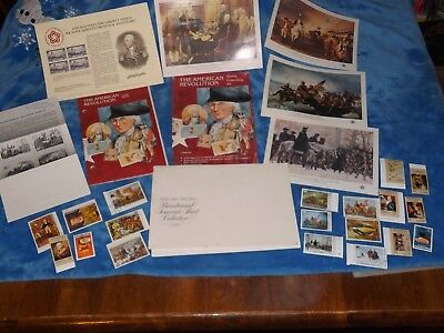The American Revolution Stamp Collecting Kit Album w/Stamps !